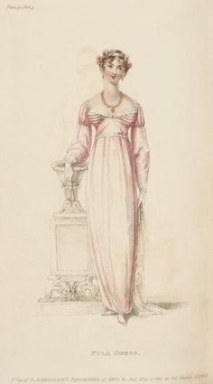 Ackermann's Repository, Full Dress, May 1811 Notice how the breasts were pushed apart during this period.