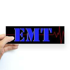 EMT Red Heart Beat Sticker (Bumper) > EMT Heart Beat > The Art Studio by Mark Moore
