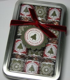 velvet nugget tin by - Cards and Paper Crafts at Splitcoaststampers Christmas Bazaar Crafts, Christmas Food Gifts, Christmas Love, Christmas Candy, Holiday Crafts, Christmas Neighbor, Neighbor Gifts, Craft Gifts, Diy Gifts