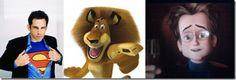 """Ben Stiller – Alex the Lion (""""Madagascar"""") – Bernard (""""Megamind"""") Ben Stiller, Cartoon Movies, Voice Actor, Cool Cartoons, Madagascar, The Voice, Lion, Fandoms, Animation"""