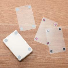 Transparent card deck from MUJI