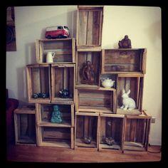 1000 images about estanteria cajas on pinterest antigua - Estanterias con cajas ...