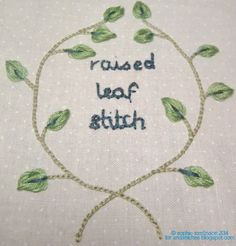 Ever tried the raised leaf stitch? It is a really useful stumpwork stitch - and is actually fairly simple to stitch. Yo...
