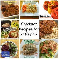 Crock pot Recipes for 21 Day Fix
