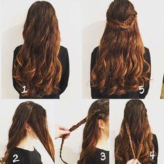 Inspirasjon til sommerfesten? Her ser du hvordan du kan gjøre om hverdagshåret til en sommerlig festfrisyre i 5 enkle steg! ☀️ #howto #hairstyle #braids #curls #hairtips #summerhair #kanfrisører