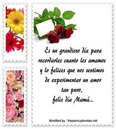 mensajes de texto para el dia de la Madre,palabras para el dia de la Madre: http://www.frasesmuybonitas.net/para-el-dia-de-la-madre-bonitas-frases/