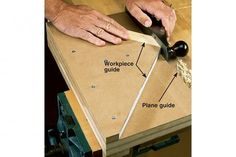 You can trim a miter quickly and accurately with nothing more than a sharp hand plane and a simple jig.