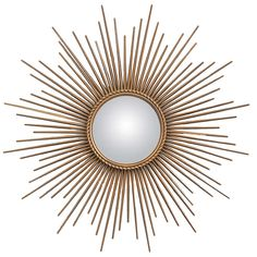 View this item and discover similar for sale at - French vintage sunburst mirror in brass with a braided ring encircling the original convex mirror. Another iconic mirror signed Maison Chaty in Vallauris. Convex Mirror, Sunburst Mirror, Mirrors, Mirror Mirror, Blue Rooms, Art Decor, Home Decor, Decoration, French Vintage