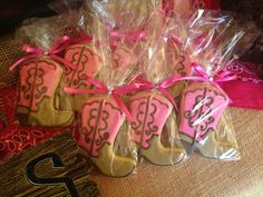 Cowboy boot cookies at a pink cowgirl party! See more party ideas at… Sheriff Callie Birthday, Country Birthday, Horse Birthday Parties, Cowgirl Birthday, Birthday Ideas, 5th Birthday, Rodeo Party, Horse Party, Cowgirl Party