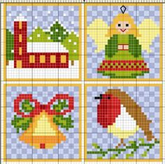 Christmas cross stitch. I like the robin :)