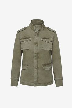 Description Anine Bing Army jacket in green. Fun, classic army green jacket is the perfect casual addition to your summer wardrobe. Size & Fit Fits true to size. Olive Jacket, Green Jacket, Cargo Pants Outfit, Cargo Shirts, Early Fall Outfits, Classic Army, Twill Pants, Field Jacket, Couture