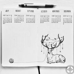"""160 Likes, 2 Comments - Bullet journal inspiration... (@bullet_journaling_it_is) on Instagram: """"This is also a very cute decoration for the month of #december artist unknown #bulletjournal…"""""""