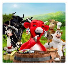 La Vache qui rit and her friends on the farm