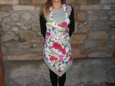 Grembiule da cucina  a rombo  collezione PAPAVERI e FARFALLE., by Le gioie di  Pippilella, 22,00 € su misshobby.com