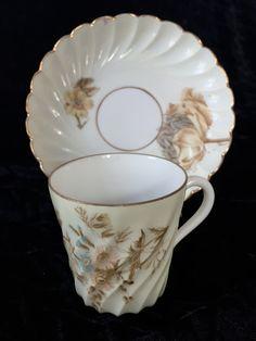 Vintage, Porcelain Demitasse Cup and Saucer by Nanaslittlecottage on Etsy