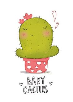 Baby Cactus Baby Cactus More from my siteCactus íconos Cactus Drawing, Cactus Painting, Cactus Art, Kawaii Drawings, Disney Drawings, Easy Drawings, Manga Girl Drawing, Baby Cactus, Sharpie Drawings