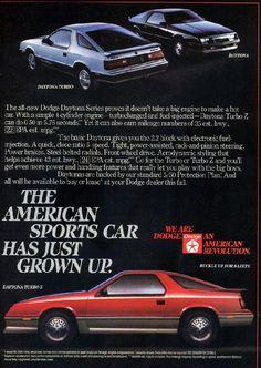 Dodge Daytona S Cars Made In Detroit Pinterest
