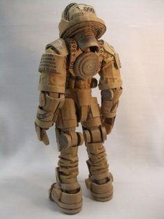 Cardboard Astronaut Cardboard Robot, Cardboard Costume, Cardboard Sculpture, Cardboard Paper, Cardboard Crafts, Paper Toys, Paper Crafts, Recycled Robot, Arte Robot