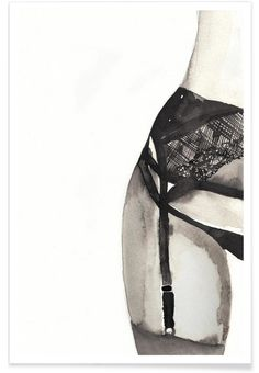 HALFWAY TO EIGHT POINTS as Premium Poster by Victoria Verbaan | JUNIQE Sexy Painting, Painting & Drawing, Lingerie Illustration, Illustration Art, Erotik, Tableau Pop Art, Canvas Prints, Art Prints, Coffee Drawing