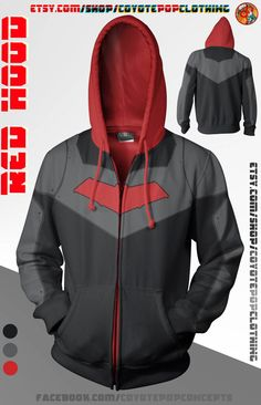 Red Hood Hoodie by CoyotePopClothing on Etsy--- I don't care if its dudes hoodie, I must wear it.