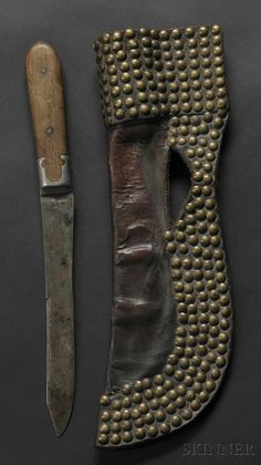Blackfoot Tacked Commercial Leather Knife Sheath