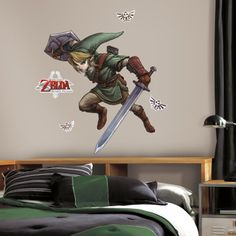 The Legend of Zelda™: Twilight Princess™ Giant Wall Decals | RoomMates