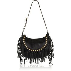 C-Rockee fringed textured-leather shoulder bag ($2,650) ❤ liked on Polyvore featuring bags, handbags, shoulder bags, shoulder bag purse, valentino purses, shoulder bag handbag, shoulder hand bags and fringe purse