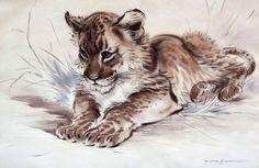 Lion cub by Ralph Thompson