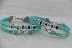 Lesbian Couples Bracelets Set Hers and Hers Bracelets by PrettyDIY, $9.99