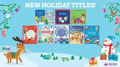 "This is just a quick sneak peek of our NEW holiday titles! We have both secular and religious Christmas books. We also have a wide selection of ""winter"" themed books. Usborne books are VERY popular right now, so if you want to order for Christmas, I would definitely opt for sooner rather than later to ensure it ships in time. :)"