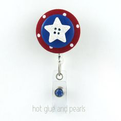 Fourth of July Badge Reel 2 July 4th by HotGlueAndPearls on Etsy, $8.00