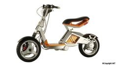 in the cities of 2050 MIT has designed an electric scooter prototype which could replace petrol-burning scooters in cities of the future.MIT has designed an electric scooter prototype which could replace petrol-burning scooters in cities of the future. Scooter Motorcycle, E Scooter, Scooter Design, Bike Design, Bike Rally, Sidecar, Electric Bicycle, Electric Skateboard, Electric Cars