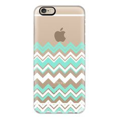 iPhone 6 Plus/6/5/5s/5c Case - Mint White Chevron Transparent ($40) ? liked on Polyvore featuring accessories, tech accessories, phone cases, electronics, phone, capas de iphone, iphone case, white ip(Tech Accessories)