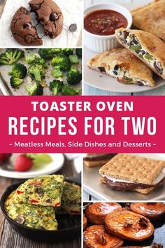 Toaster Oven Recipes For Two! Tasty meatless meals, side dishes, and easy desser… Toaster Oven Recipes For Two! Tasty meatless meals, side dishes, and easy dessert recipes that make just two servings and are designed for the toaster oven. Toaster Oven Cooking, Convection Oven Cooking, Toaster Oven Recipes, Easy Oven Recipes, Gourmet Recipes, Cooking Recipes, Cooking Games, Healthy Recipes, Vegetarian Cooking