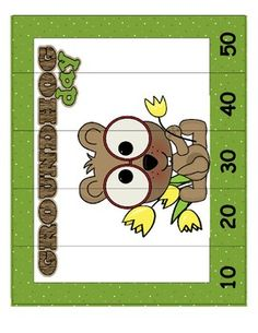 FREE Groundhog Day Leveled Number Puzzlers (6 Total) Skip Counting