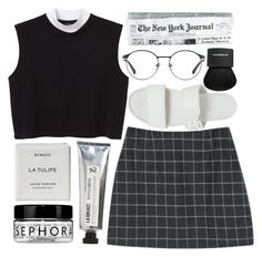 """""""working girl"""" by rachelgasm ❤ liked on Polyvore featuring Monki, 3.1 Phillip Lim, Vagabond, Byredo, L:A Bruket, Givenchy and Sephora Collection"""