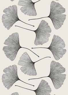 Ginkgo by Marimekko - Finland  (Ginkgo Bilova is one of my favorite words, and has one of my favorite shapes in nature)
