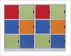 12 Kapaklı Renkli Dolap