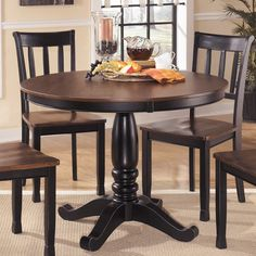 Signature Design by Ashley Round Dining Room Table - Overstock™ Shopping - Great Deals on Signature Design by Ashley Dining Tables