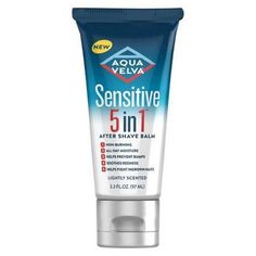Aqua Velva Sensitive 5-in-1 After Shave Balm Lightly Scented, 3.3 FL OZ