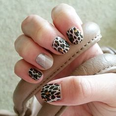 Love my new nails! #jamberry #gildedleopardjn #champagnetoastjn