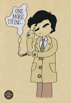 09ad4151705 Columbo One More Thing Illustration Art Print by Carl Batterbee