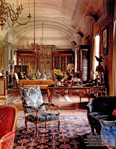 Chateau de Fluery drawing room