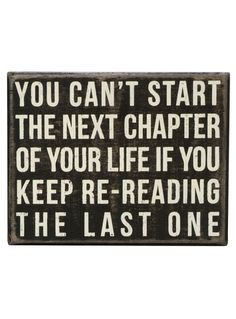 """Next Chapter"" Rustic Wall Decor Box Sign--Words to live by"
