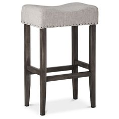 Threshold Linen Saddle Barstool... target.
