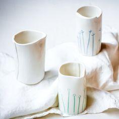 Decorated milk/cream pourer Tasmania, Wander, Artisan, Milk, Ceramics, Cream, Tableware, Handmade, Decor