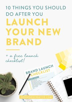 Learn the 10 Things You Should Do After You Launch Your New Brand! You've hired the designer. Spent hours honing in on your vision and collecting inspiration. You've established your target audience and set up a game plan on how your new brand voice will attract them. Then it's launch day. Now what? So many people take all the right steps in the launch process until the actual launch itself!