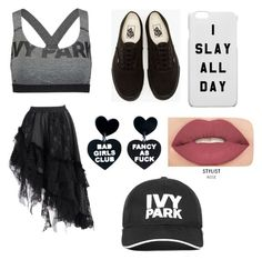 """""""Ivy The Backstabber"""" by katelynackerman ❤ liked on Polyvore featuring Ivy Park, Vans and Smashbox"""