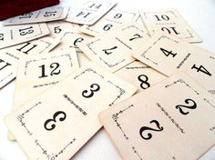 Antique Number Playing Cards