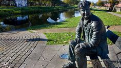Brendan Behan Statue in Dublin City Centre